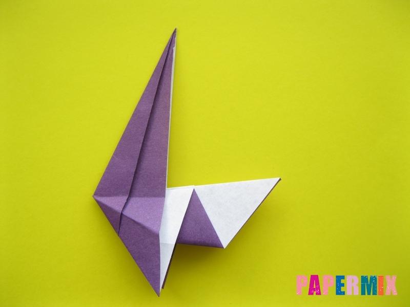 Как сделать аиста из бумаги (оригами) поэтапно - шаг 10