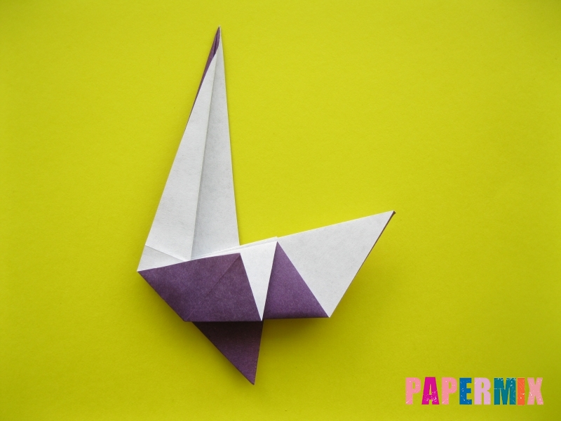 Как сделать аиста из бумаги (оригами) поэтапно - шаг 11