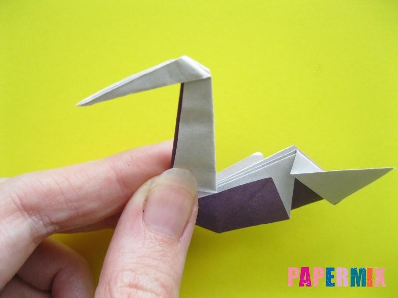 Как сделать аиста из бумаги (оригами) поэтапно - шаг 15