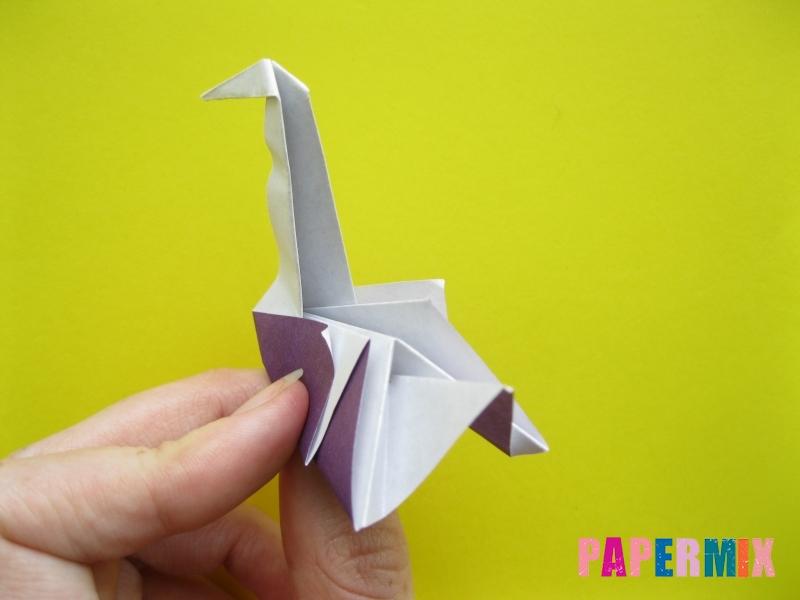 Как сделать аиста из бумаги (оригами) поэтапно - шаг 17