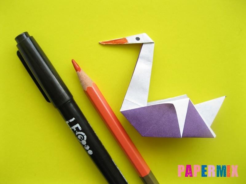 Как сделать аиста из бумаги (оригами) поэтапно - шаг 19