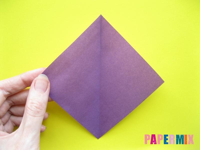Как сделать аиста из бумаги (оригами) поэтапно - шаг 2