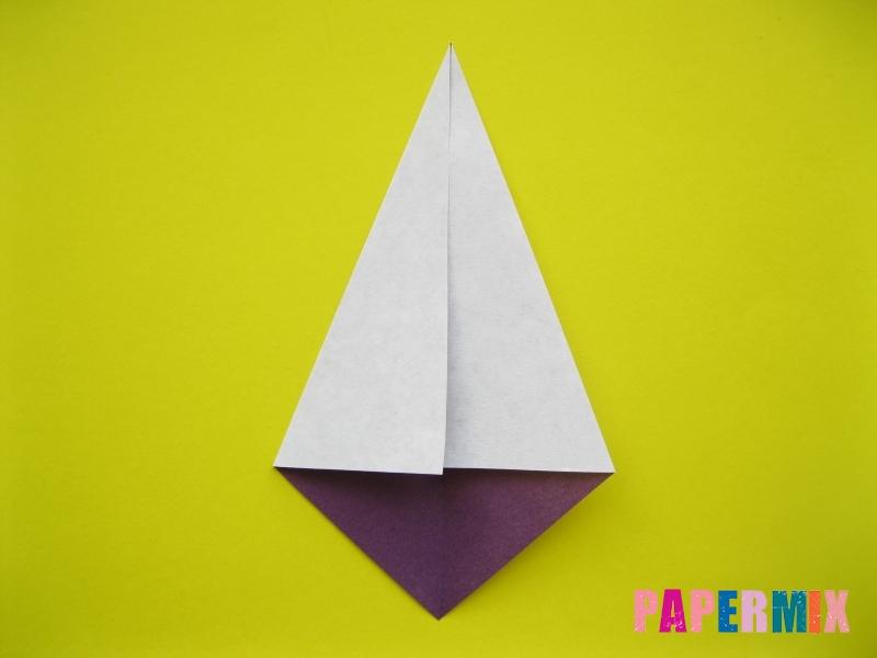 Как сделать аиста из бумаги (оригами) поэтапно - шаг 3