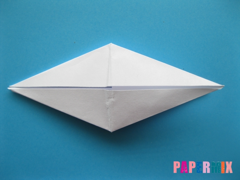 Как сделать акулу из бумаги (оригами) поэтапно - шаг 11