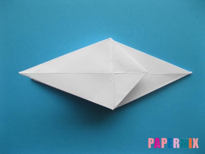 Как сделать акулу из бумаги (оригами) поэтапно - шаг 12
