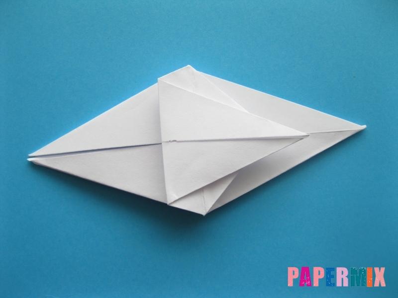 Как сделать акулу из бумаги (оригами) поэтапно - шаг 13