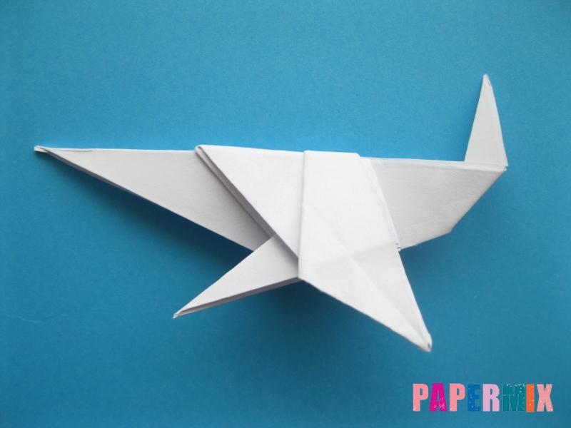 Как сделать акулу из бумаги (оригами) поэтапно - шаг 17
