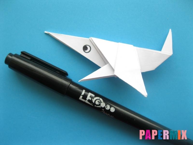 Как сделать акулу из бумаги (оригами) поэтапно - шаг 18