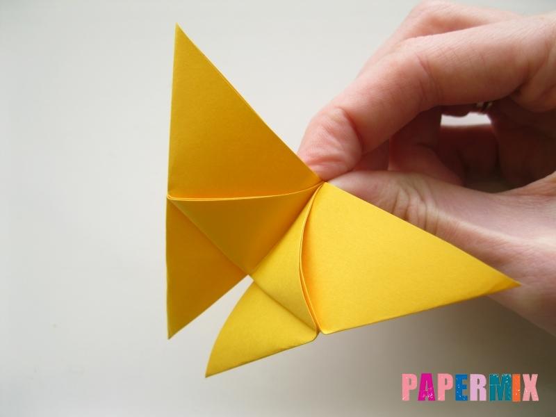 Как сделать бабочку из бумаги поэтапно - шаг 7