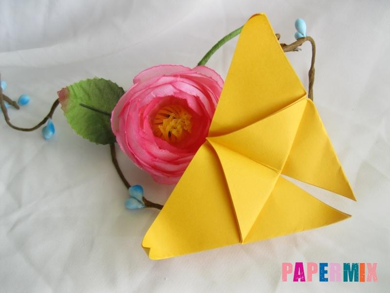 Как сделать бабочку из бумаги поэтапно - шаг 8