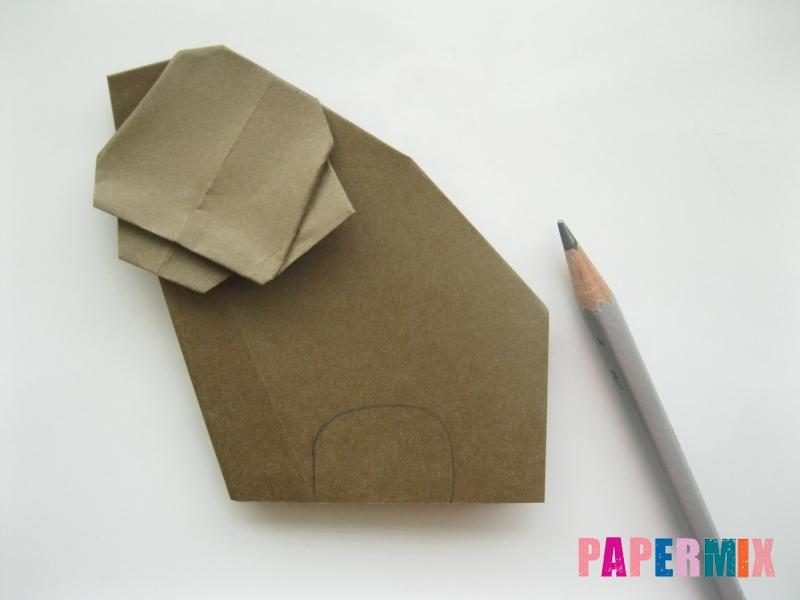 Как сделать бегемота из бумаги (оригами) поэтапно - шаг 11