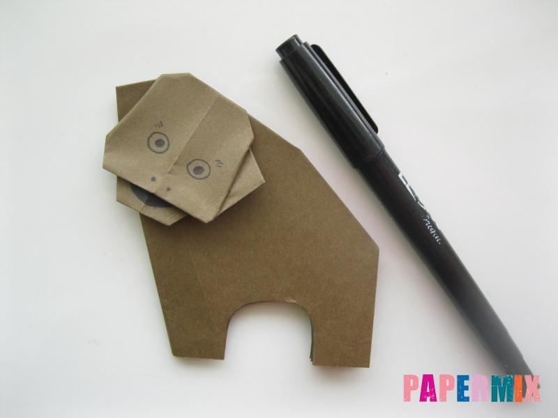 Как сделать бегемота из бумаги (оригами) поэтапно - шаг 13