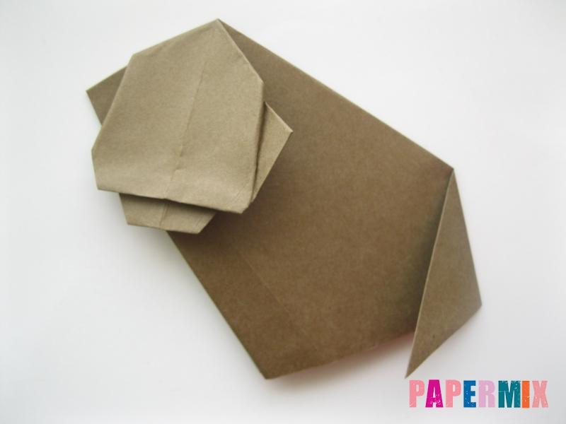 Как сделать бегемота из бумаги (оригами) поэтапно - шаг 9