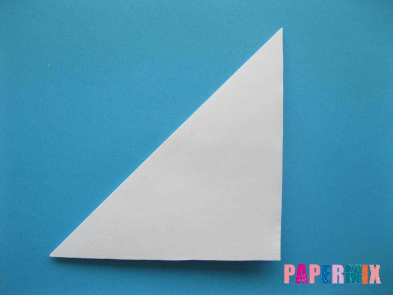Как сделать цаплю из бумаги (оригами) поэтапно - шаг 1