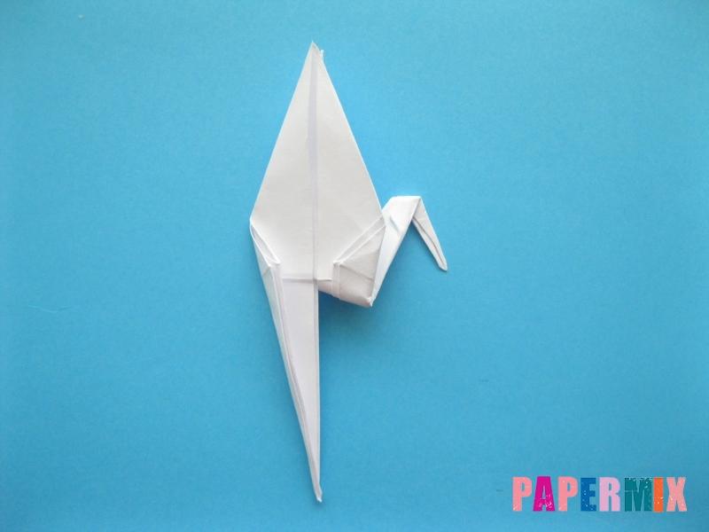 Как сделать цаплю из бумаги (оригами) поэтапно - шаг 13