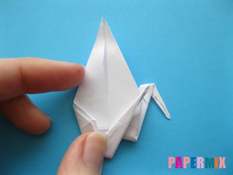 Как сделать цаплю из бумаги (оригами) поэтапно - шаг 14