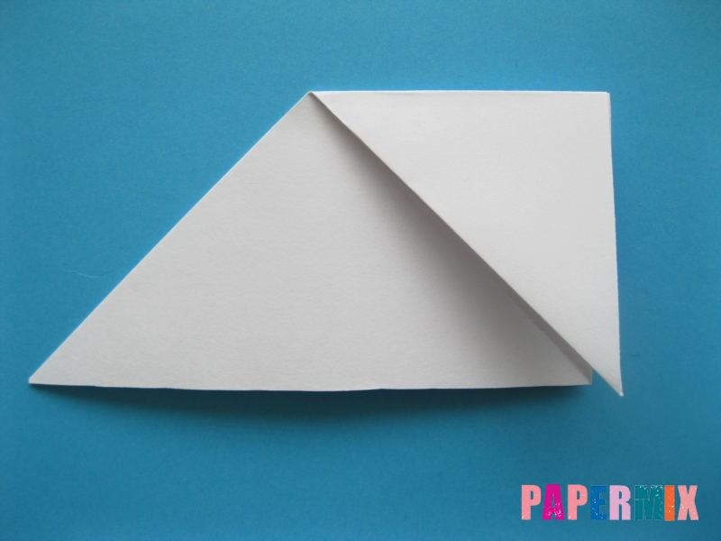 Как сделать цаплю из бумаги (оригами) поэтапно - шаг 3