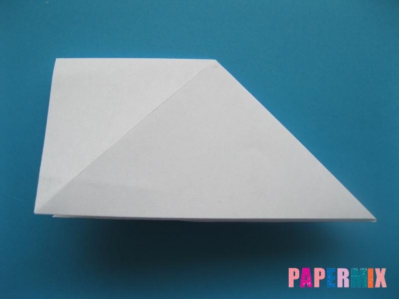 Как сделать цаплю из бумаги (оригами) поэтапно - шаг 5