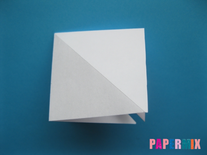 Как сделать цаплю из бумаги (оригами) поэтапно - шаг 6
