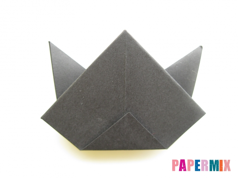 Как сделать черного кота из бумаги поэтапно - шаг 15