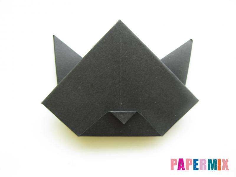 Как сделать черного кота из бумаги поэтапно - шаг 16