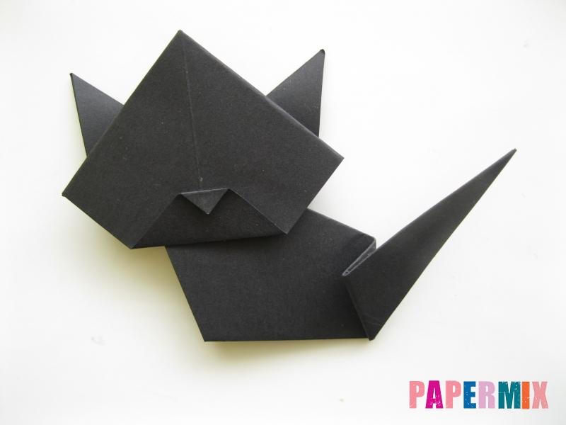 Как сделать черного кота из бумаги поэтапно - шаг 17