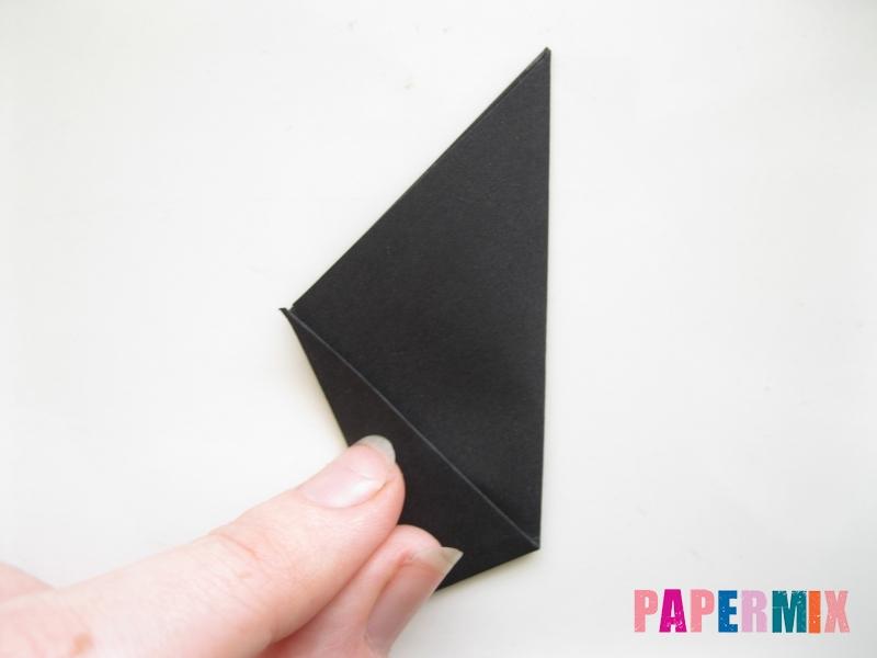 Как сделать черного кота из бумаги поэтапно - шаг 5