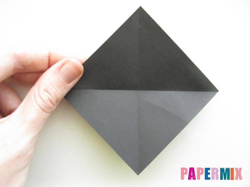 Как сделать черного кота из бумаги поэтапно - шаг 9