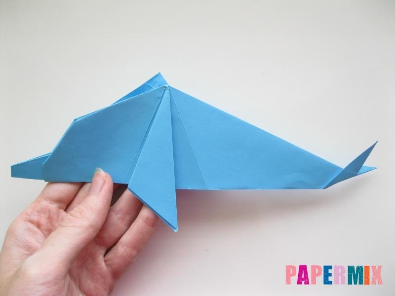 Как сделать дельфина из бумаги поэтапно - шаг 19