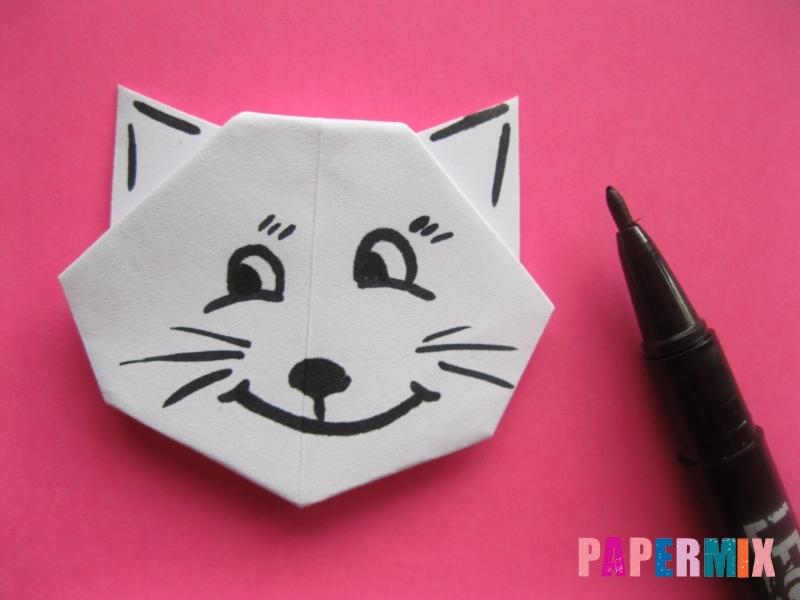 Как сделать голову кошки из бумаги поэтапно - шаг 11