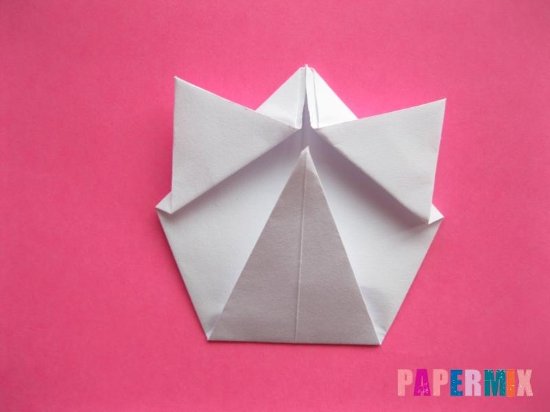 Как сделать голову кошки из бумаги поэтапно - шаг 7