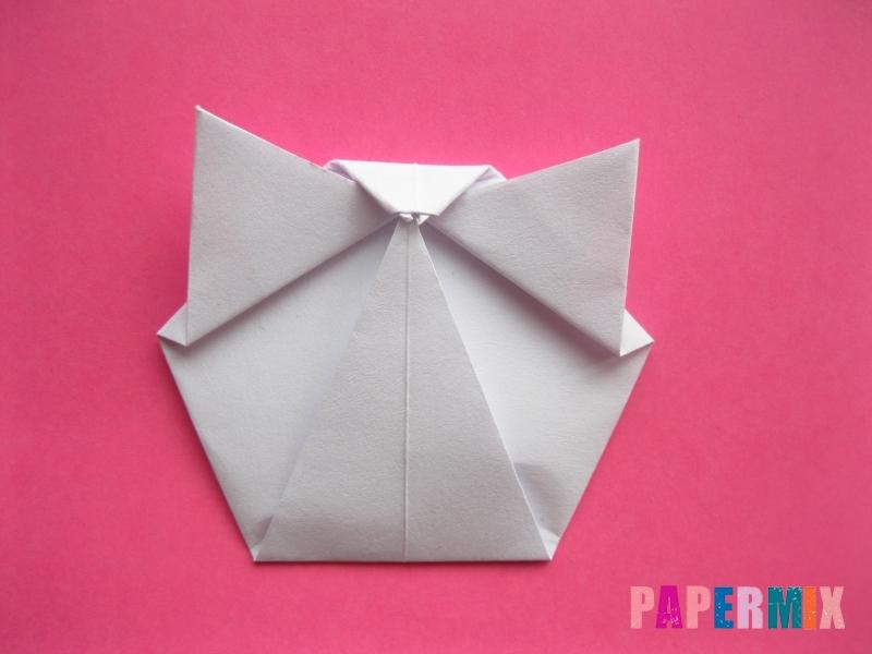 Как сделать голову кошки из бумаги поэтапно - шаг 8