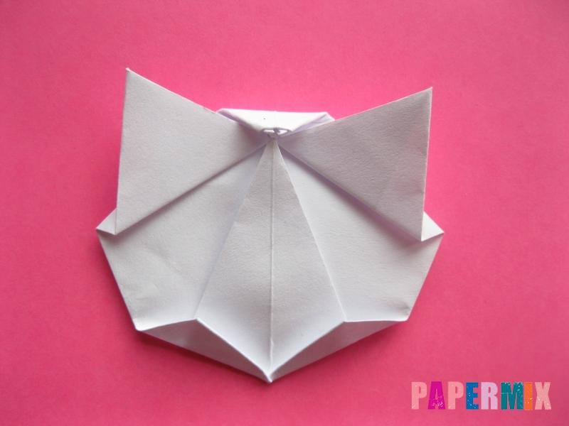 Как сделать голову кошки из бумаги поэтапно - шаг 9