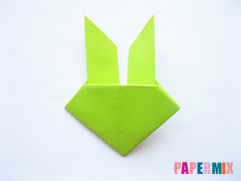 Как сделать голову лягушки из бумаги поэтапно - шаг 8