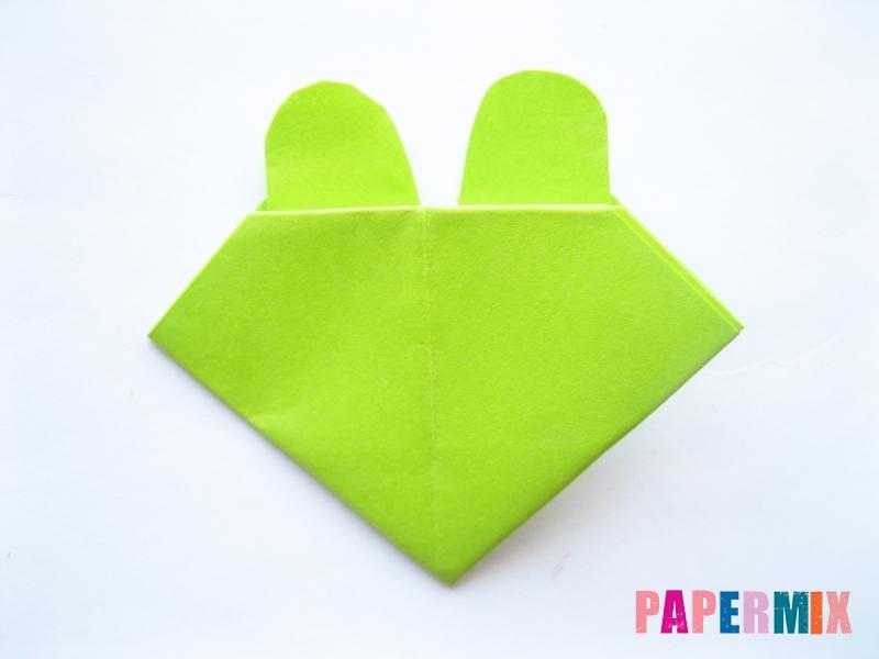 Как сделать голову лягушки из бумаги поэтапно - шаг 9