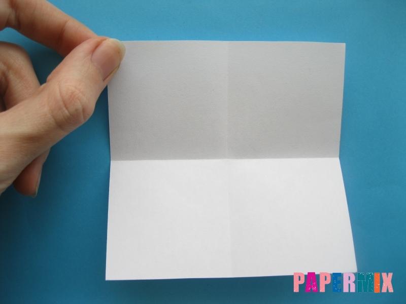 Как сделать голубя из бумаги поэтапно - шаг 1