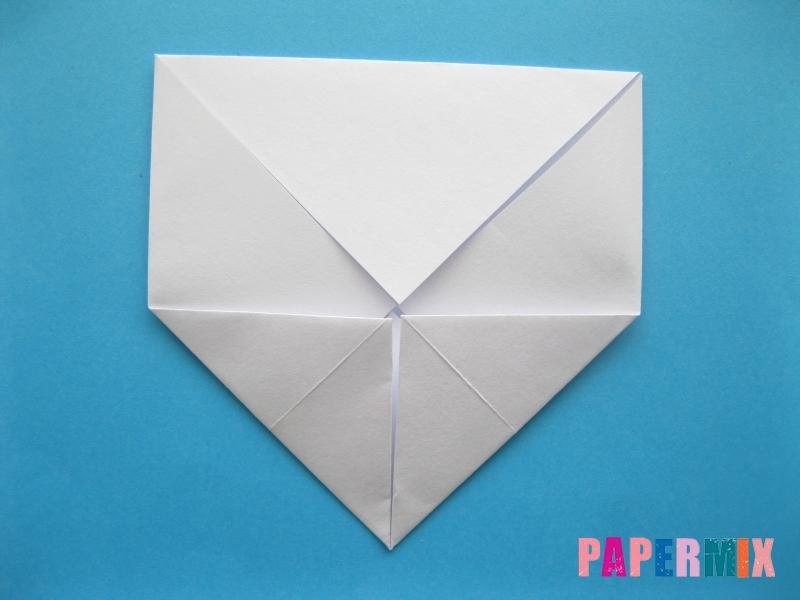 Как сделать голубя из бумаги поэтапно - шаг 3