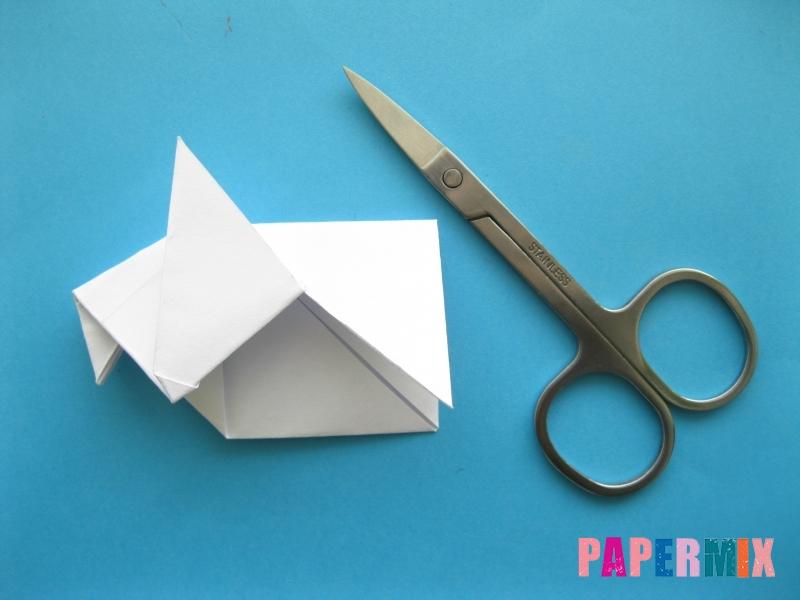 Как сделать голубя из бумаги поэтапно - шаг 7