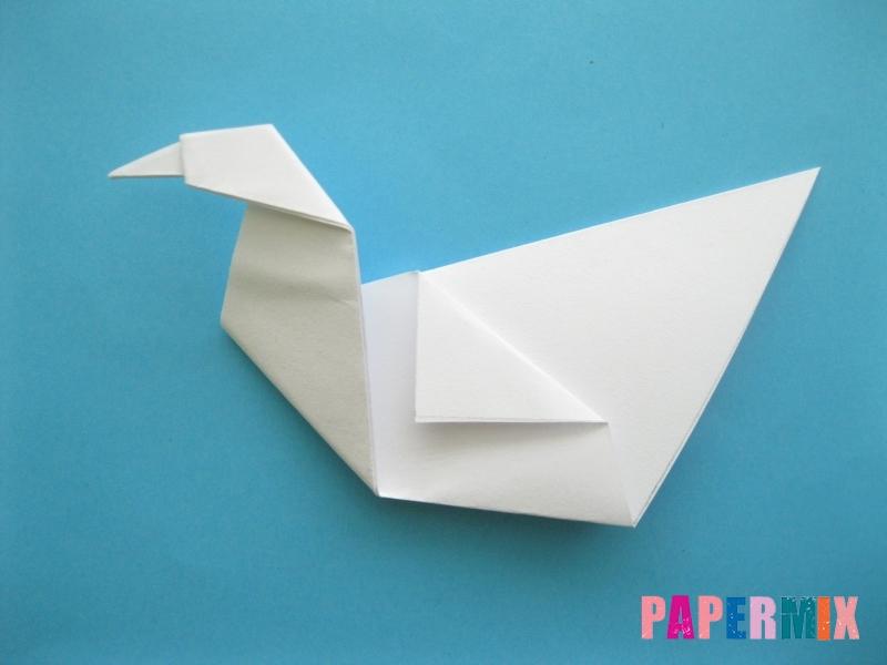 Как сделать из бумаги лебедя пошаговая инструкция - шаг 9