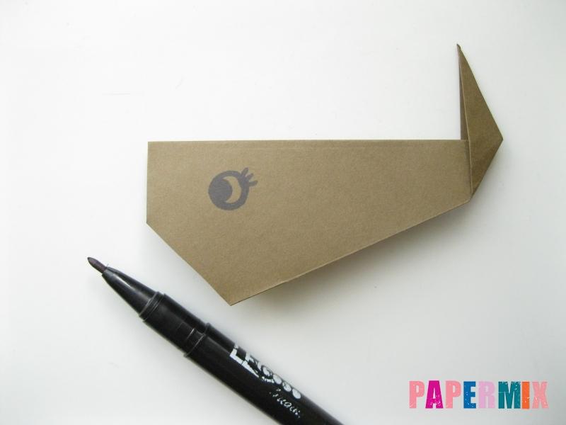 Как сделать кита из бумаги (оригами) инструкция с фото - шаг 8
