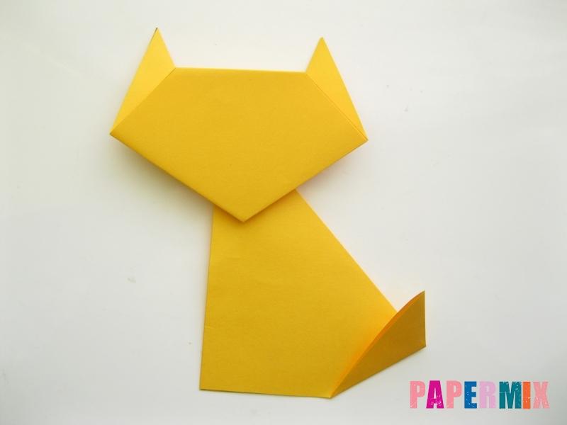 Как сделать котенка из бумаги поэтапно - шаг 8