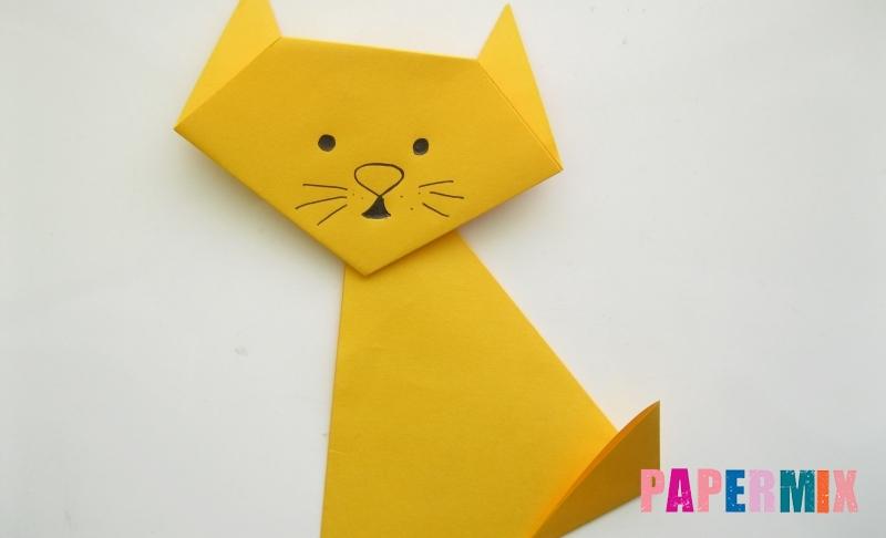 Как сделать котенка из бумаги своими руками