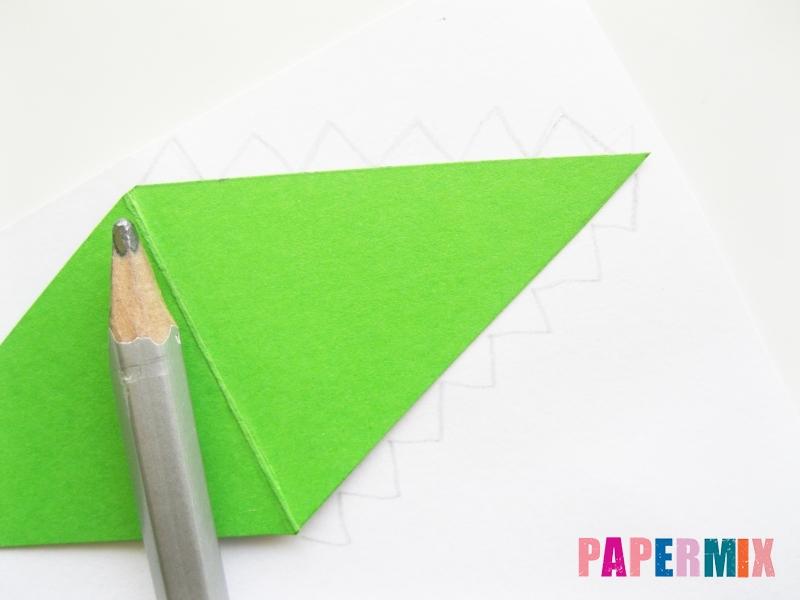 Как сделать крокодила из цветной бумаги своими руками - шаг 10