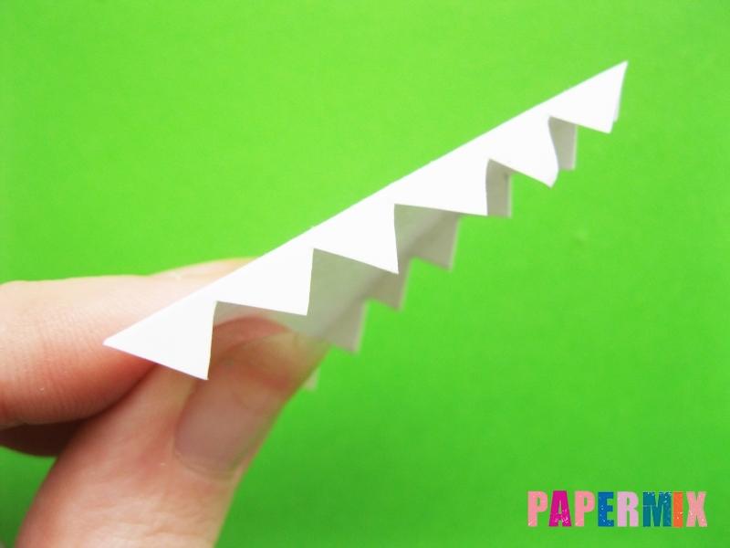 Как сделать крокодила из цветной бумаги своими руками - шаг 12