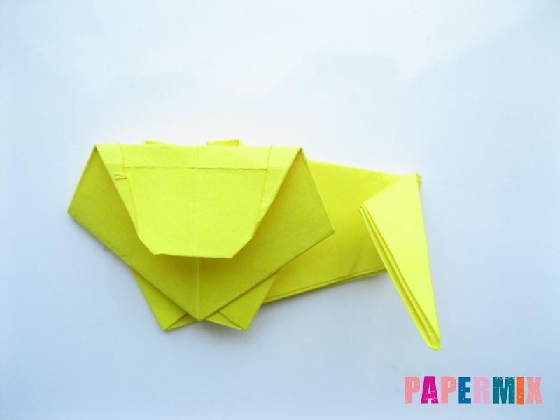 Как сделать льва из бумаги (оригами) своими руками - шаг 12
