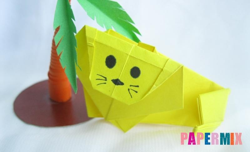 Как сделать льва из бумаги в технике оригами своими руками поэтапно