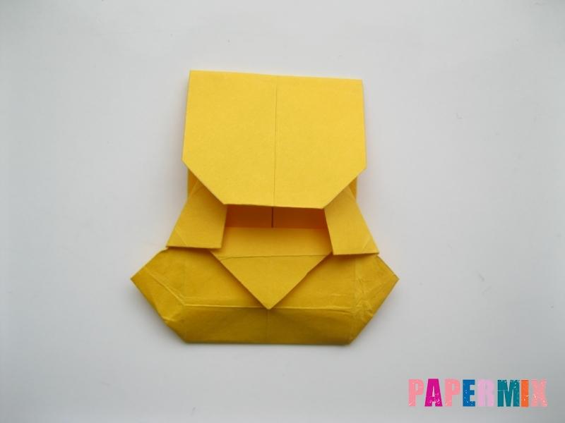 Как сделать медведя из бумаги (оригами) своими руками - шаг 15