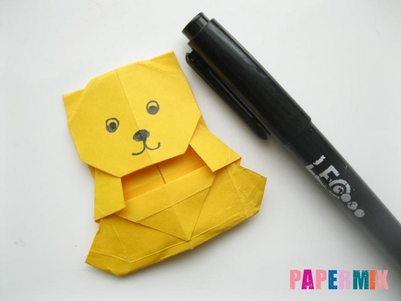 Как сделать медведя из бумаги (оригами) своими руками - шаг 18