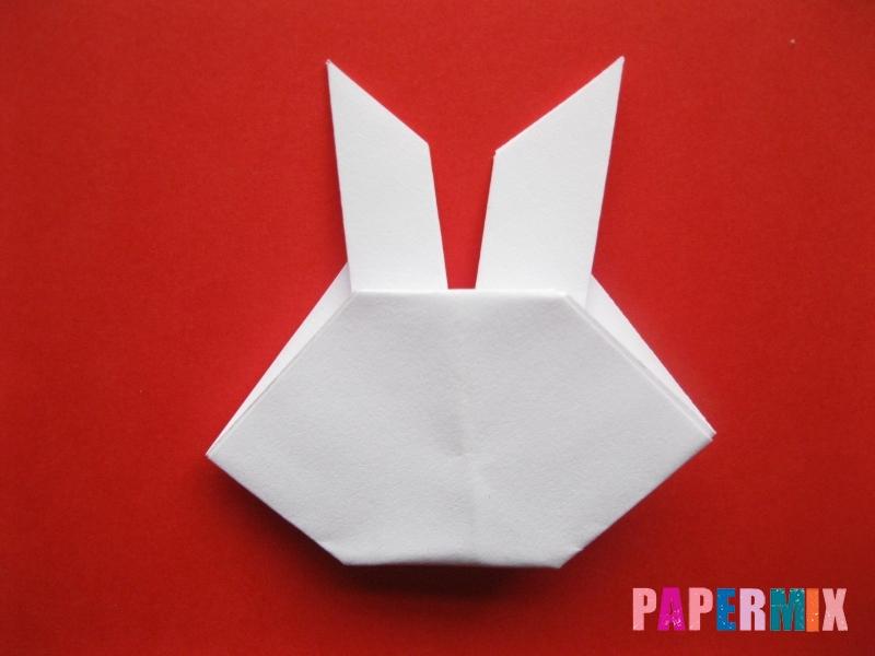 Как сделать мордочку зайчика из бумаги поэтапно - шаг 10