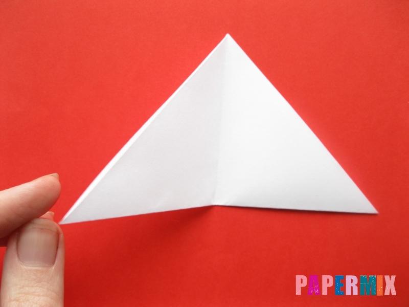 Как сделать мордочку зайчика из бумаги поэтапно - шаг 4